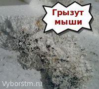 пенополистирол портят грызуны - минус